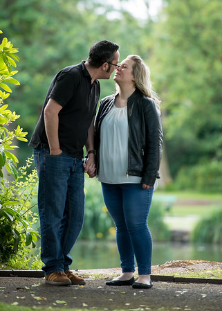 Terri and Jason pre-wedding photography - Longton Park, Staffordshire.