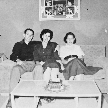 My Grandfather, Grandmother and mom, 1954