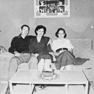 My Grandfather, Grandmother and mom, 1954