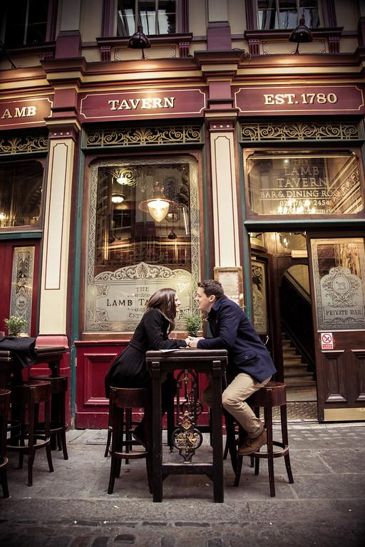 Catherine and Daniel Gaffney - London pre wedding shoot
