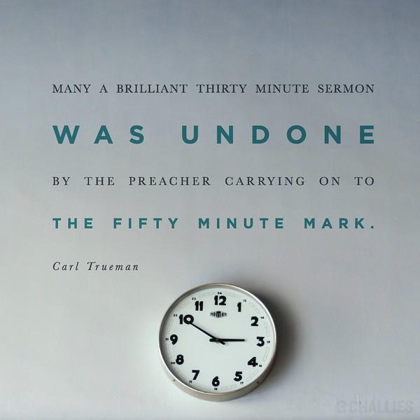 Carl Trueman on Sermons