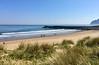 Skoro prázdna pláž Skinningrove