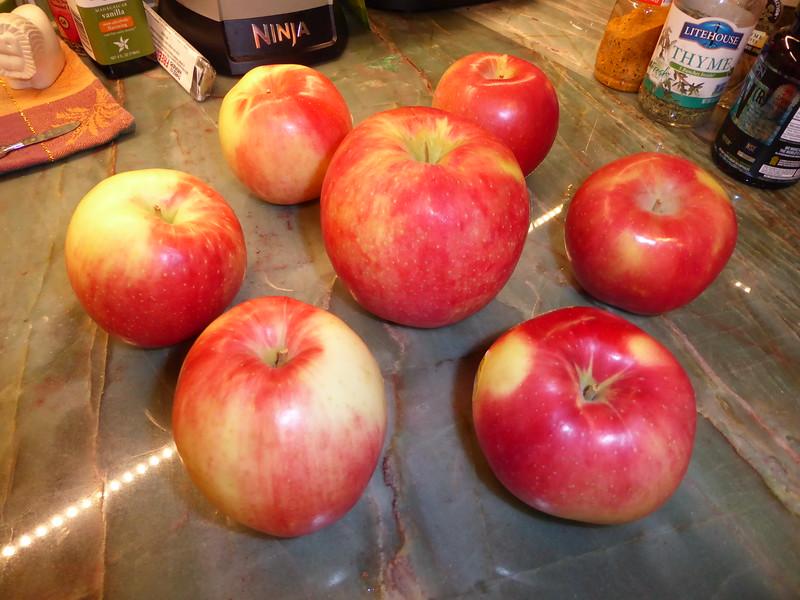 Sweet Tango organic apples... the skin has a rose aroma....