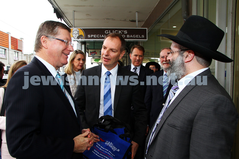 8-8-14. Victorian Premier Denis Napthine in Carlisle Street.  Photo: Peter Haskin