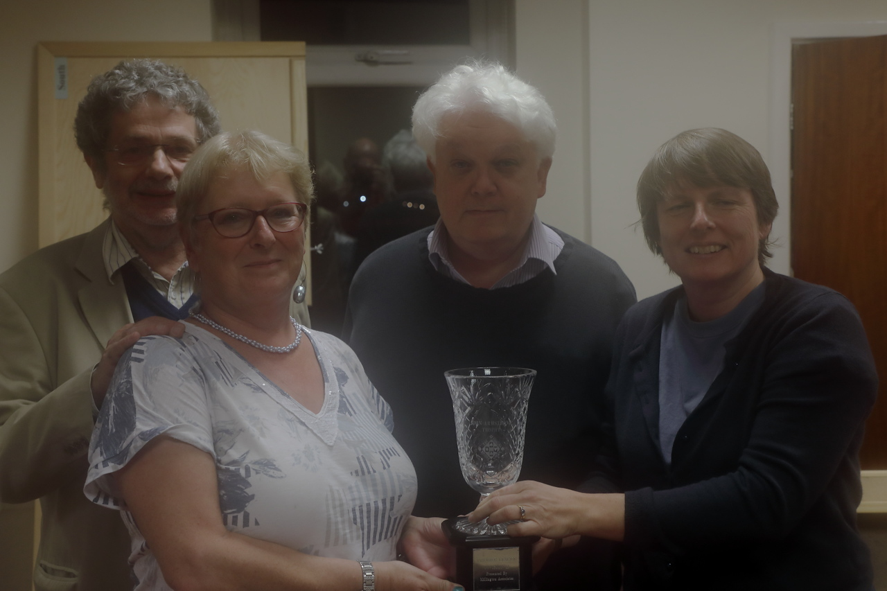 2017 Division 2 winners - Barry Myers, Sally Brock, Brian Callaghan, Heather Dhondy (plus Franklin To)