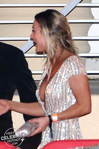Kaley Cuoco Wears Eye-Popping Tommy Hilfiger Dress With Boyfriend Karl Cook, LA