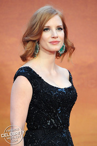 Jessica Chastain Fashions Revealing Elie Saab Dress At Premiere, London