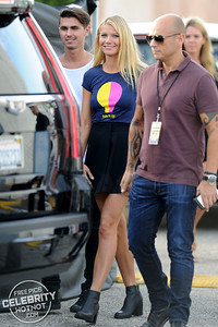 Gwyneth Paltrow Flashes Smile In Short Skirt, CA