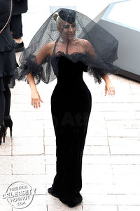 Lady Gaga Wears An Armani Privé Funeral Veil At Premiere!