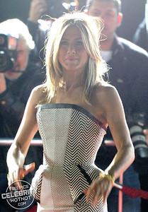 Jennifer Aniston Wears Stunning Striped Dress For Premiere in Los Angeles