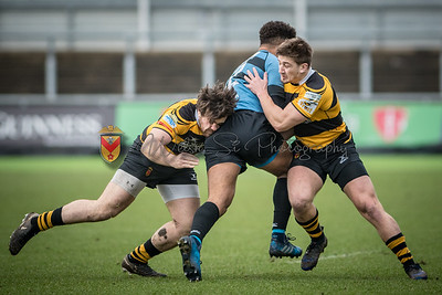 Newport v Cardiff at Rodney Parade, Principality Premiership, Saturday 30 December 2017