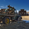Bodie still had people living in until the 1940's,as this old truck demonstrates as it sits alone in the late afternoon near Main Street Bodie.