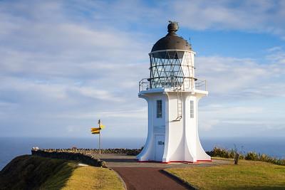 Cape Reinga lighthouse and start of Te Araroa Trail