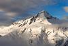 Mount Aspiring and the Bonar Glacier, winter. Mount Aspiring National Park. Central Otago