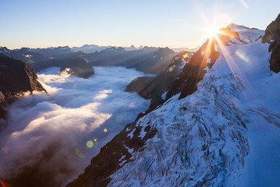 Taoka Icefall and Donne Valley, Darran Mountains, Fiordland National Park