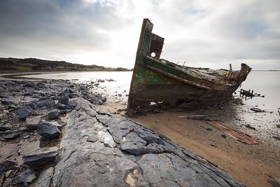 Shipwreck at Ocean Beach, Bluff, Southland