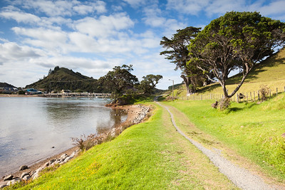 Track alongside Pataua River Estuary and footbridge, Pataua, Northland