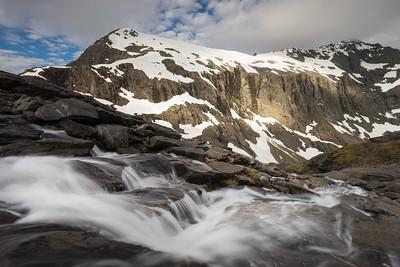 Upper Gertrude Valley and Barrier Face, Darran Mountains, Fiordland National Park