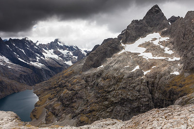 Mount Te Wera and Lake Turner, Darran Mountains, Fiordland National Park