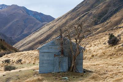 Corrugated iron musterers hut, Avon Burn Top Timaru Track, Ahuriri Conservation Park