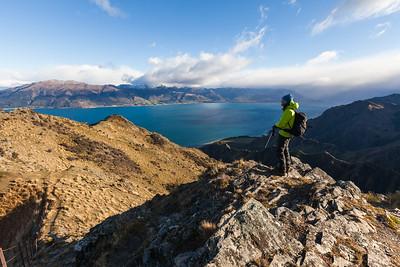 View of Lake Hawea, Lake Hawea Conservation Park, Otago