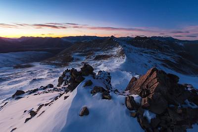 Stag Saddle, Mount Hope & Braun Elwert Peak, Two Thumb Range from Beuzenberg Peak, Canterbury High Country