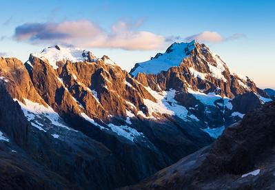 Mount Milne, Syme, Tutoko and Madeline, Darran Mountains