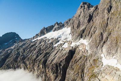 Northern aspect of Mount Patuki above Cleft Creek, Darran Mountains, Fiordland National Park, New Zealand