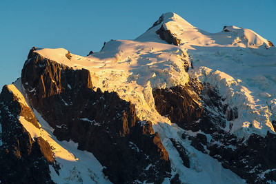 Upper south face of Mount Tutoko and Age Glacier, Darran Mountains, Fiordland National Park, New Zealand