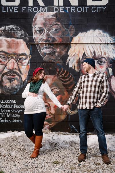 Elena & Alex | Maternity | Eastern Market, Detroit