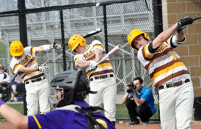 Auburn Hills Avondale hosted Rochester Adams for an Oakland Activities Association crossover baseball game on Monday, April 10, 2017. (MIPrepZone photo by Dan Fenner)