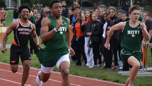 Novi's boys were triumphant while Northville's girls were tops during a KLAA dual track and field meet Tuesday between the two squads on Northville's brand new track surface. (MIPrepZone photo by Marvin Goodwin).