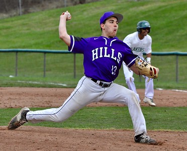 West Bloomfield hosted Bloomfield Hills for an Oakland Activities Association crossover baseball game on Tuesday, April 11, 2017. (MIPrepZone photo by Dan Fenner)