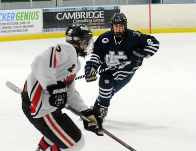 Bloomfield Hills Cranbrook-Kingswood scored the first three and last three goals of the game in its 8-2 victory over Troy in a pre-regional final Wednesday night at Wallace Ice Arena. (MIPrepZone photo by Jason Schmitt)