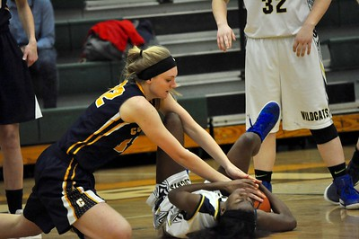 Clarkston defeated Oxford in a Class A girls basketball district semifinal at Lake Orion High School on Wednesday, March 1, 2017. (MIPrepZone photo by Dan Fenner)
