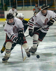 Lakeland opened up a 2-0 lead late in the first period and in spite of some untimely penalties, prevailed with a 7-4 victory over Walled Lake Northern in pre-Regional action Tuesday night in Novi. (MIPrepZone photo by Timothy Arrick)