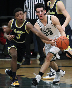 Clarkston defeated West Bloomfield 68-61 in varsity basketball action at West Bloomfield High School Tuesday, Feb. 28, 2017. (MIPrepZone photo by Larry McKee)
