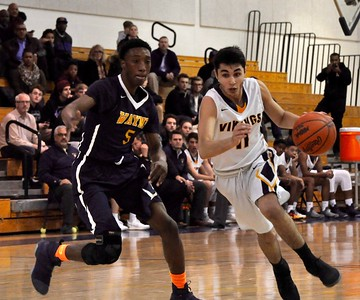 Walled Lake Central hosted Wayne Memorial for the Kensington Lakes Activities Association championship game on Thursday, March 2, 2017. (MIPrepZone photo  by Dan Fenner)