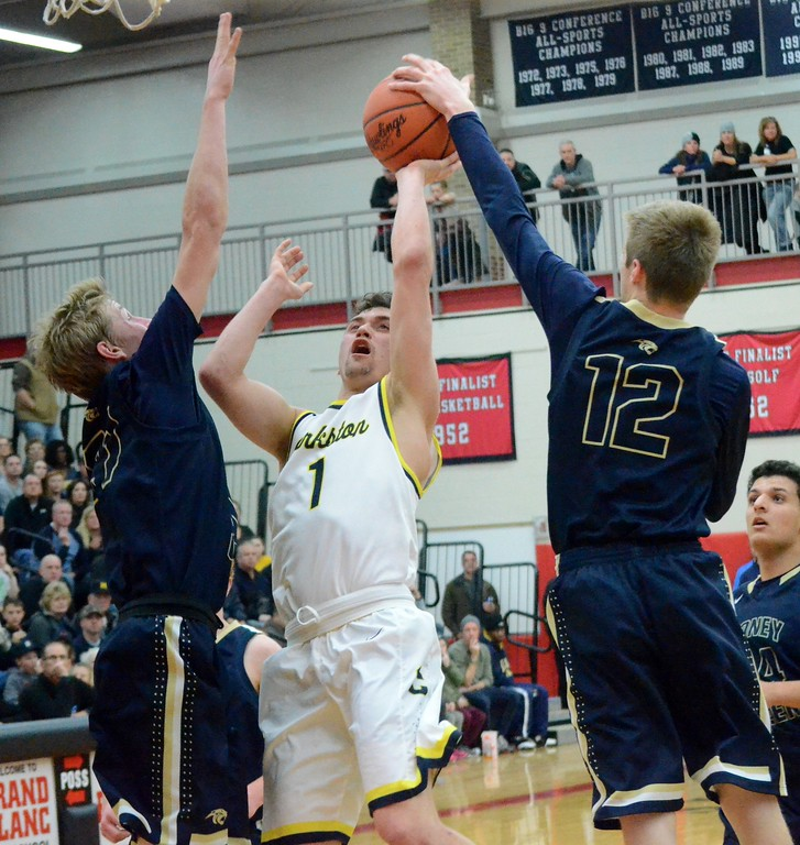 . Clarkston defeated Stoney Creek, 56-36, in Wednesday\'s Class A regional final at Grand Blanc. (MIPrepZone photo by Drew Ellis)