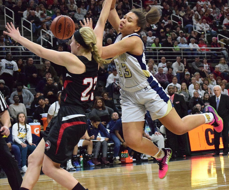 . Birmingham Detroit Country Day defeated Marshall in the Class B semifinal on Friday from the Breslin Center in East Lansing. (MIPrepZone photo by Matthew B. Mowery)