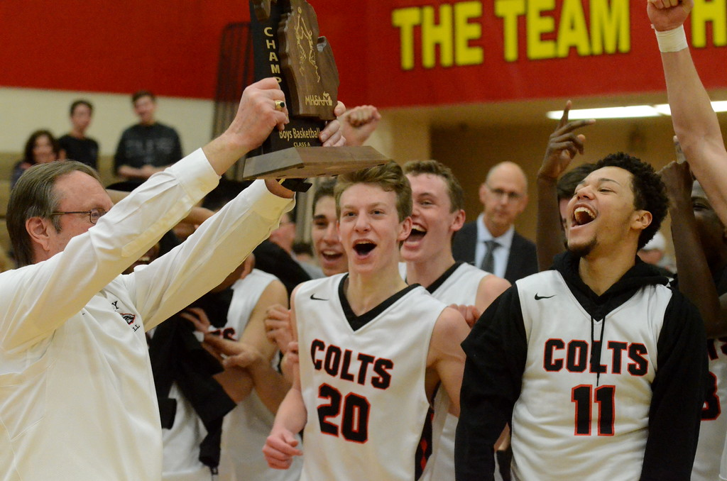 . Troy and De La Salle battled it out for a Class A regional title Wednesday night, with the Colts pulling out a 48-40 victory to advance to the quarterfinal round next week.  (MIPrepZone photo by Jason Schmitt)