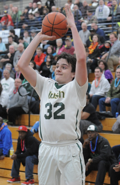 . Pontiac Notre Dame lost to New Haven on Wednesday in the Class B regional final at North Branch. (MIPrepZone photo by Dave Dalton)