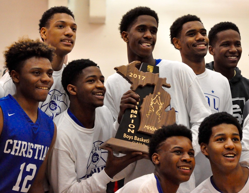 . Southfield Christian defeated Detroit Public Safety Academy in a Class D boys basketball regional final played at Sterling Heights Parkway Christian High School on Wednesday, March 15, 2017. (MIPrepZone photo by Dan Fenner)