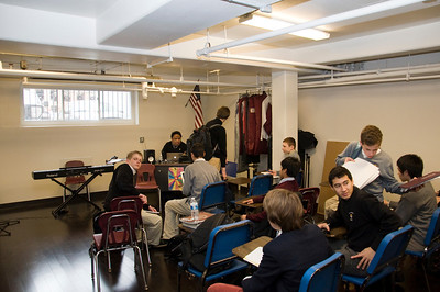 The music classroom in the lower level of O'Keefe – the home of Prep Vox – was similarly devastated by flooding. It has now been fully restored, with improved weatherproofing. The music rooms reopened in January, with Vox (along with the Concert Band and Jazz Band) fully returning to action in concert on February 7.
