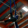 KRISTOPHER RADDER — BRATTLEBORO REFORMER<br /> Ren Carter-Tucker uses the aerial silks while training for an audition at the New England Center of Circus Arts on Monday, Feb. 3, 2020.
