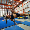 KRISTOPHER RADDER — BRATTLEBORO REFORMER<br /> Liana Fesenmeyer prepares for an audition using the aerial pole at the New England Center of Circus Arts on Monday, Feb. 3, 2020.