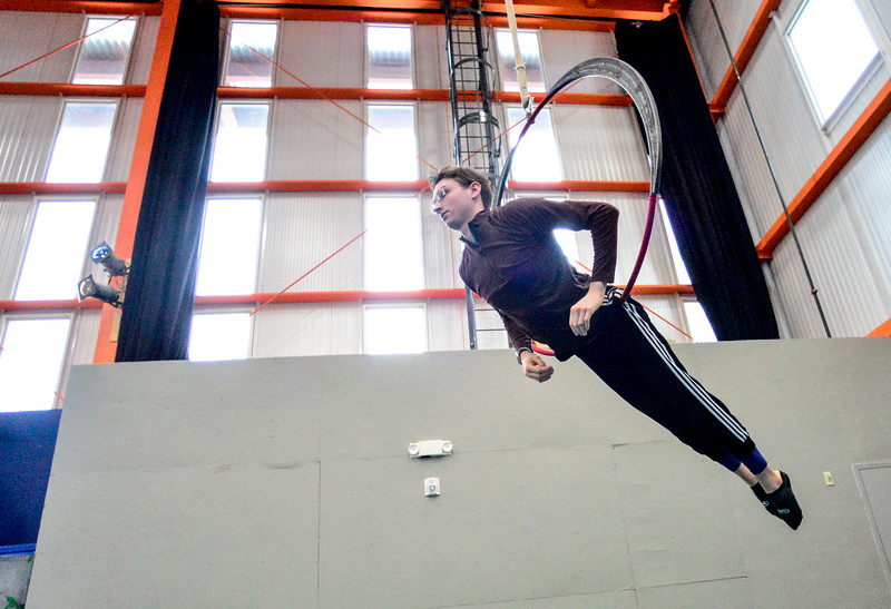 KRISTOPHER RADDER — BRATTLEBORO REFORMER<br /> People at the New England Center of Circus Arts practice their routines for an upcoming audition on Monday, Feb. 3, 2020.
