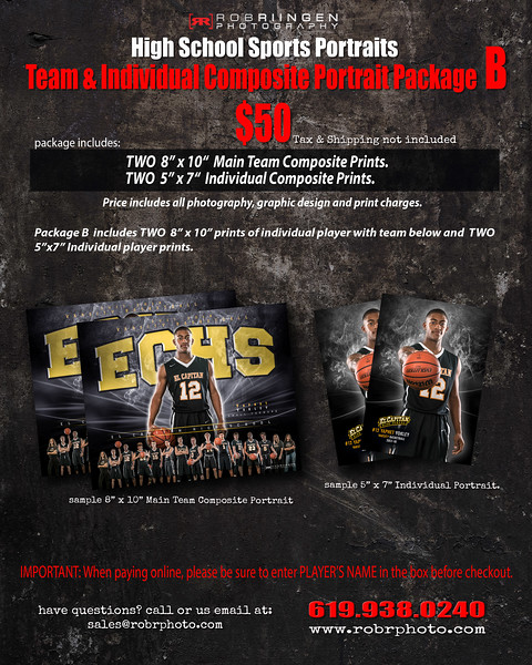 Team Portrait Package- B