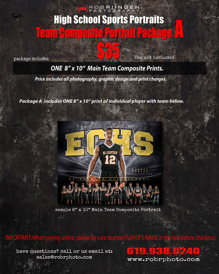 Team Portrait Package- A