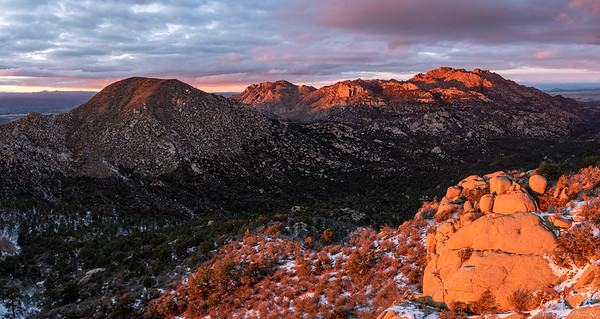 Little Granite and Granite Mountains from Two Rock Mountain